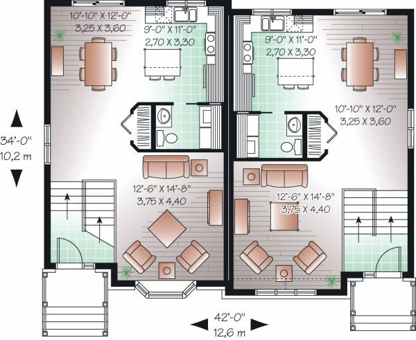 European Floor Plan - Main Floor Plan Plan #23-775