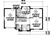 Traditional Style House Plan - 3 Beds 1 Baths 1300 Sq/Ft Plan #25-4783 Floor Plan - Main Floor Plan