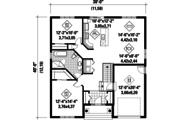 European Style House Plan - 2 Beds 1 Baths 1197 Sq/Ft Plan #25-4593 Floor Plan - Main Floor Plan