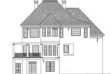 Colonial Exterior - Rear Elevation Plan #119-148