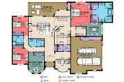 Traditional Style House Plan - 4 Beds 3 Baths 2750 Sq/Ft Plan #63-234 Floor Plan - Main Floor
