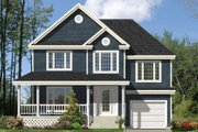 Country Style House Plan - 3 Beds 1 Baths 1724 Sq/Ft Plan #138-255 Exterior - Front Elevation