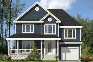Country Exterior - Front Elevation Plan #138-255