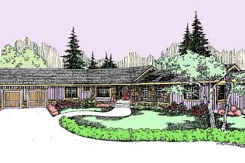 Traditional Exterior - Front Elevation Plan #60-537 - Houseplans.com