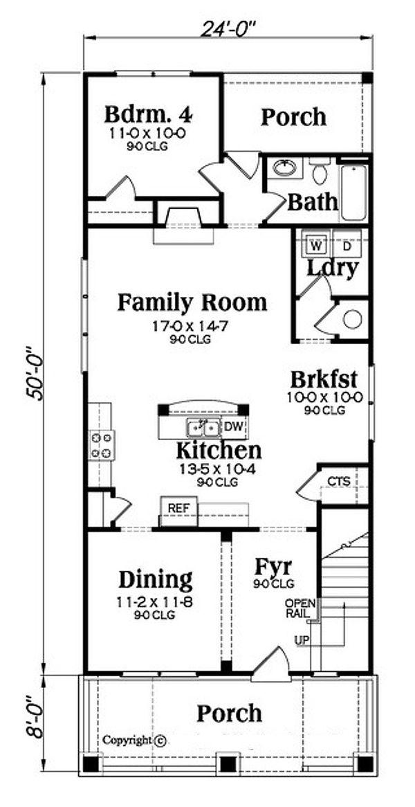 Bungalow Floor Plan - Main Floor Plan #419-297