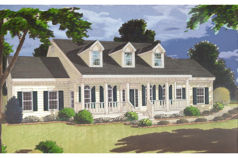 Dream House Plan - Southern Exterior - Front Elevation Plan #3-189