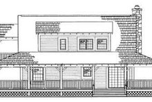 House Blueprint - Country Exterior - Rear Elevation Plan #72-107