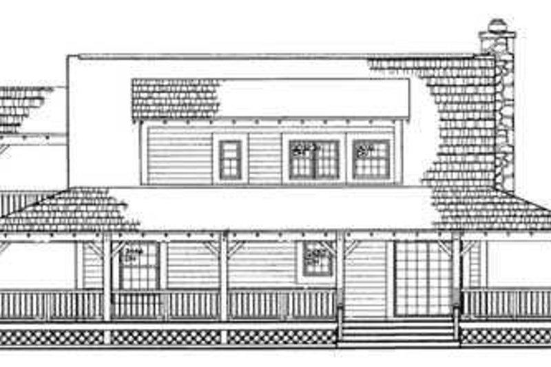 Country Exterior - Rear Elevation Plan #72-107 - Houseplans.com
