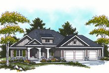 Dream House Plan - Cottage Exterior - Front Elevation Plan #70-861