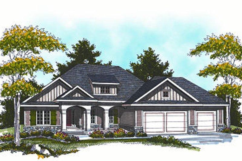 Dream House Plan - Cottage Exterior - Front Elevation Plan #70-861