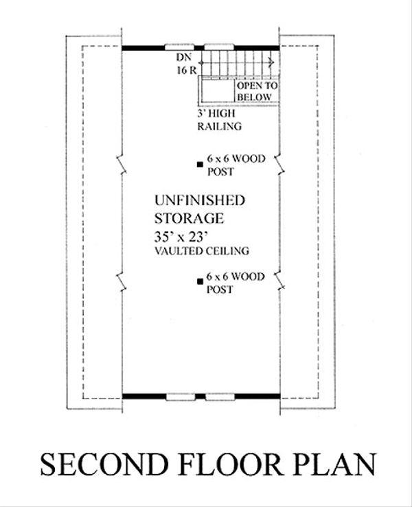 Craftsman Floor Plan - Upper Floor Plan #118-124