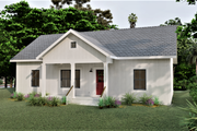 Farmhouse Style House Plan - 3 Beds 2 Baths 1035 Sq/Ft Plan #44-224 Exterior - Other Elevation