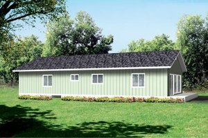 Ranch Exterior - Front Elevation Plan #1-1251