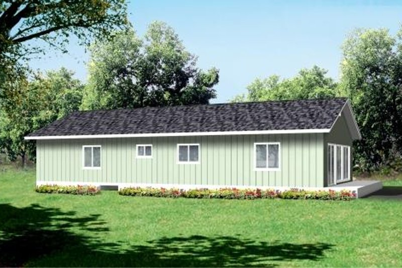Ranch Style House Plan - 2 Beds 2 Baths 1419 Sq/Ft Plan #1-1251 Exterior - Front Elevation