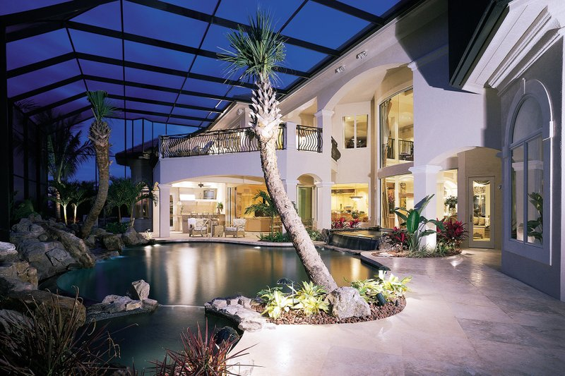 Mediterranean Exterior - Outdoor Living Plan #930-15 - Houseplans.com