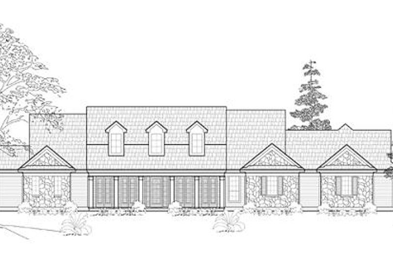 Colonial Exterior - Front Elevation Plan #61-234