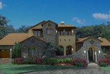 House Plan Design - Mediterranean Exterior - Front Elevation Plan #120-163
