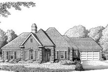 Dream House Plan - European Exterior - Front Elevation Plan #410-238