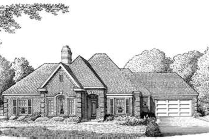 European Exterior - Front Elevation Plan #410-238