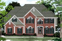 Home Plan Design - European Exterior - Front Elevation Plan #56-209