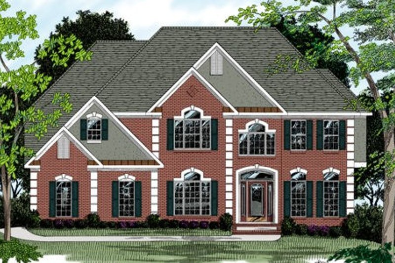 European Exterior - Front Elevation Plan #56-209