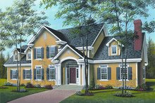 Dream House Plan - Colonial Exterior - Front Elevation Plan #23-724
