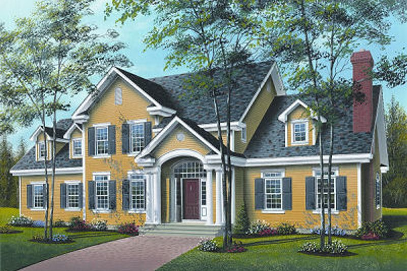 Architectural House Design - Colonial Exterior - Front Elevation Plan #23-724