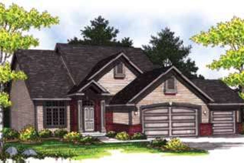 Home Plan - Traditional Exterior - Front Elevation Plan #70-831