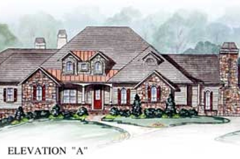 Traditional Exterior - Front Elevation Plan #54-149 - Houseplans.com