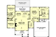 Craftsman Style House Plan - 3 Beds 2 Baths 1675 Sq/Ft Plan #430-78 Floor Plan - Main Floor