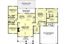 Craftsman Floor Plan - Main Floor Plan Plan #430-78