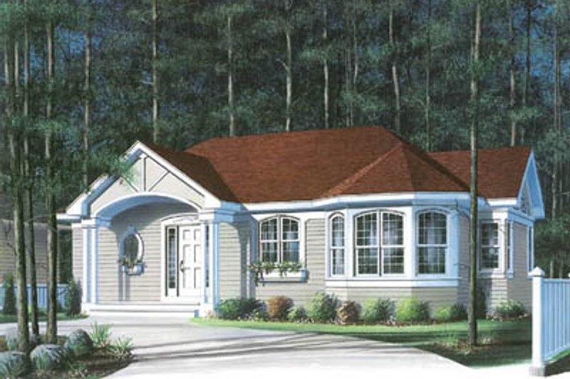 Dream House Plan - Traditional Exterior - Front Elevation Plan #23-187