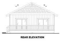 House Plan Design - Bungalow Exterior - Rear Elevation Plan #117-909
