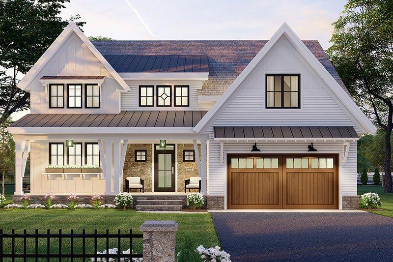Home Plan - Farmhouse Exterior - Front Elevation Plan #51-1168