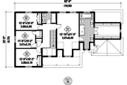 Country Style House Plan - 5 Beds 4 Baths 2655 Sq/Ft Plan #25-4559 Floor Plan - Upper Floor Plan