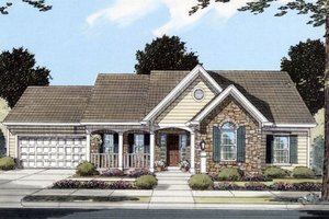 House Design - Traditional Exterior - Front Elevation Plan #46-366