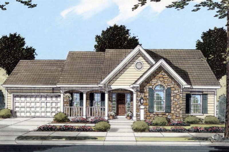 Traditional Exterior - Front Elevation Plan #46-366