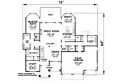Ranch Style House Plan - 3 Beds 3.5 Baths 4683 Sq/Ft Plan #20-2284 Floor Plan - Main Floor Plan