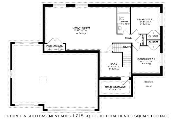 House Design - Optional Finished Basement