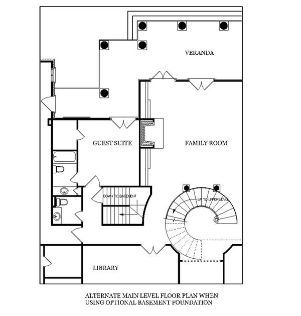 Southern Floor Plan - Other Floor Plan Plan #45-179