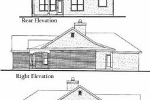 Home Plan - Traditional Exterior - Rear Elevation Plan #80-103