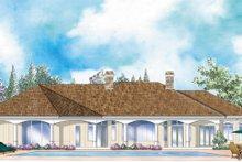 Architectural House Design - Mediterranean Exterior - Rear Elevation Plan #930-265