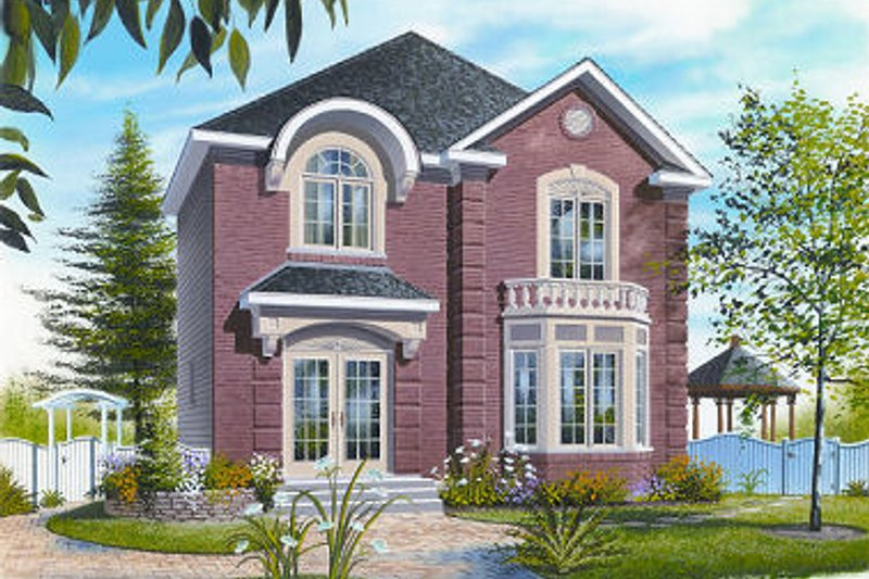 Dream House Plan - Colonial Exterior - Front Elevation Plan #23-862