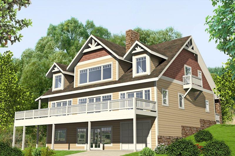 Architectural House Design - Craftsman Exterior - Front Elevation Plan #117-873