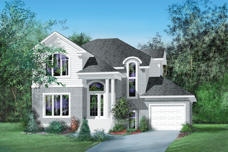 European Style House Plan - 3 Beds 1 Baths 1888 Sq/Ft Plan #25-4846 Exterior - Front Elevation