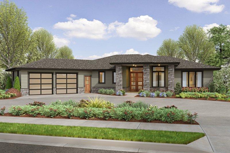 House Plan Design - Prairie Exterior - Front Elevation Plan #48-1044