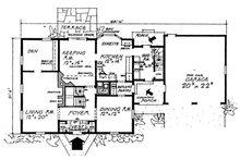 Colonial Floor Plan - Main Floor Plan Plan #315-108