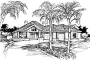 Mediterranean Style House Plan - 3 Beds 2.5 Baths 2235 Sq/Ft Plan #320-107 Exterior - Front Elevation