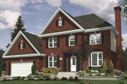 European Style House Plan - 3 Beds 1.5 Baths 1977 Sq/Ft Plan #138-152 Exterior - Front Elevation