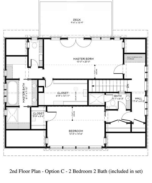 Country Floor Plan - Upper Floor Plan Plan #917-12
